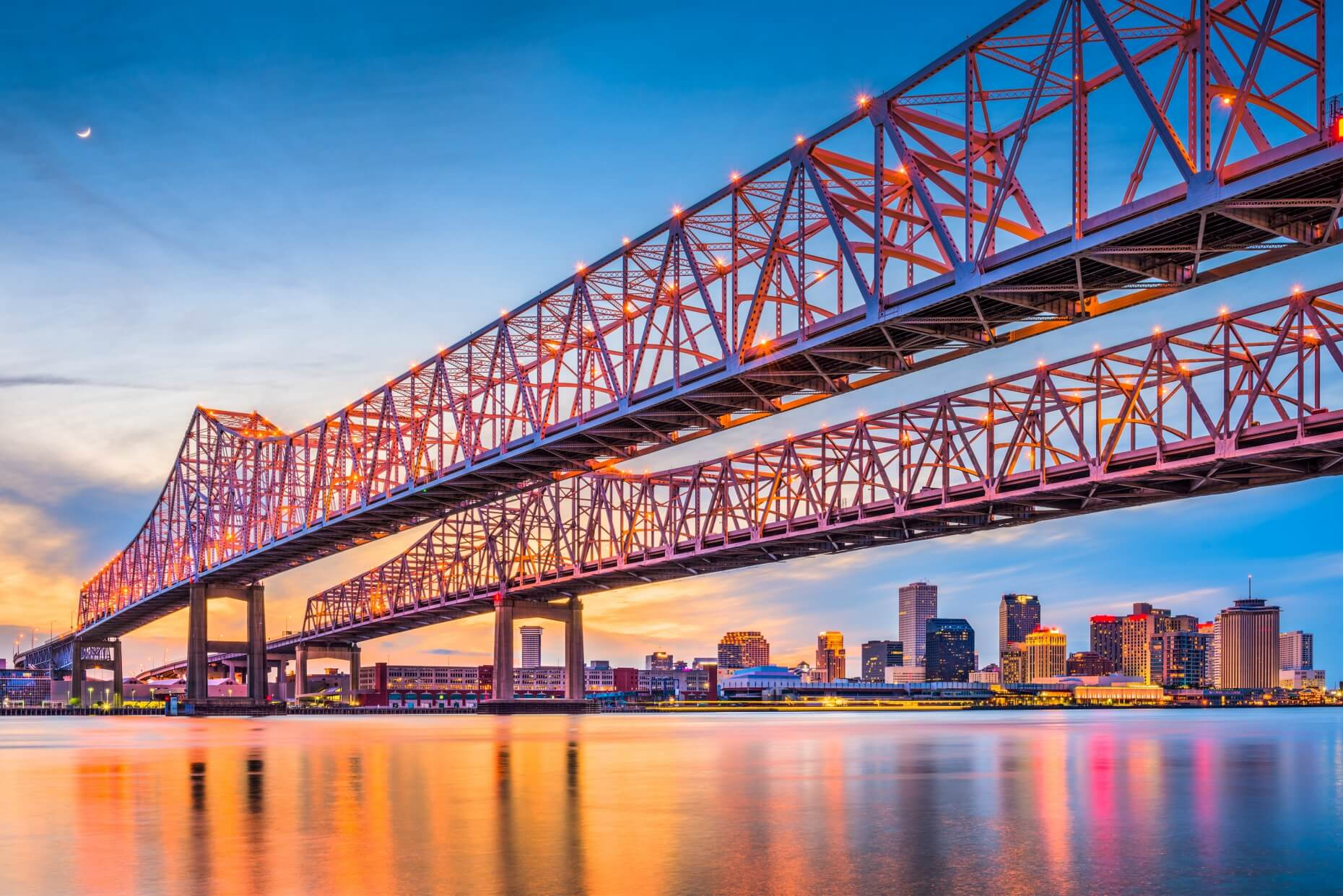 Crescent City Connection in New Orleans