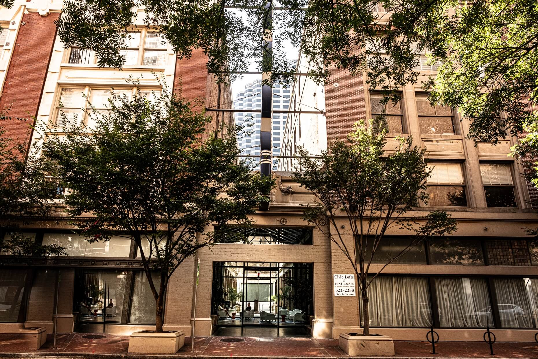 Front entrance to Civic Lofts & Penthouses