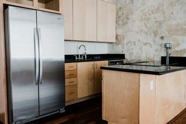 Refrigerator in kitchen