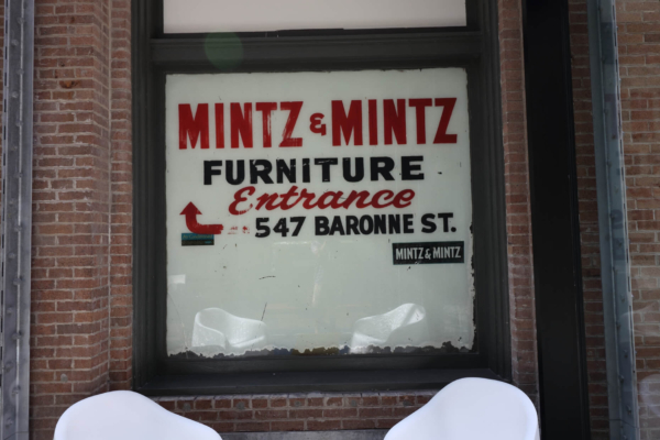Mintz & Mintz Furniture vintage window sign